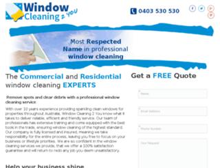 windowcleaning2you.com.au screenshot