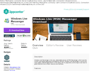 windows-live-messenger.theappcenter.com screenshot