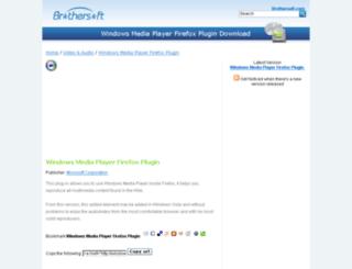 windows-media-player-firefox-plugin.brothersoft.com screenshot