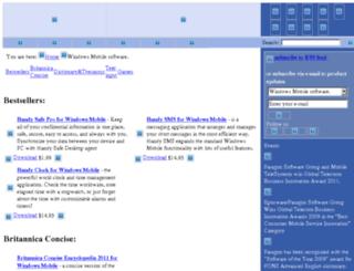 windows-mobile-software.penreader.com screenshot