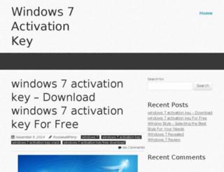 windows7activationkey.com screenshot