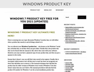 windows7productkeys.org screenshot