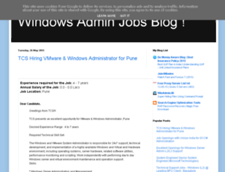 windowsadminjobsinindia.blogspot.co.at screenshot