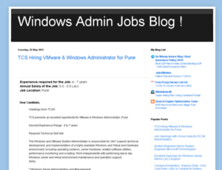 windowsadminjobsinindia.blogspot.com screenshot