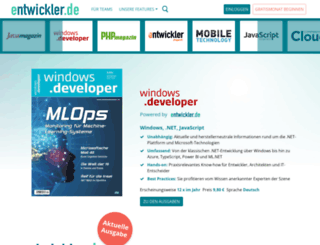 windowsdeveloper.de screenshot