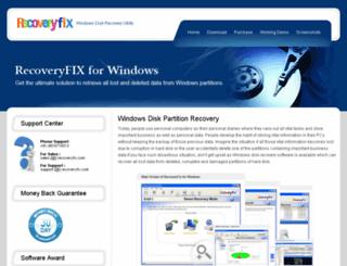 windowsdiskrecovery.org screenshot