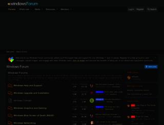 windowsforum.com screenshot