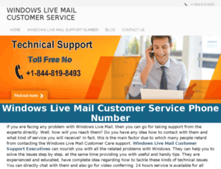 windowslivemailcustomerservice.com screenshot