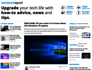 windowsreport.com screenshot