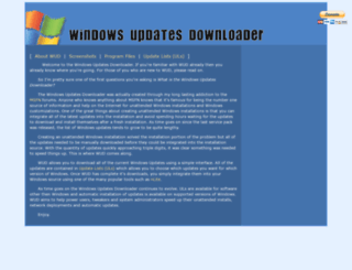 windowsupdatesdownloader.com screenshot