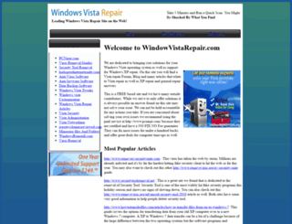 windowvistarepair.com screenshot