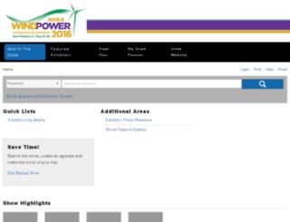 windpower15.mapyourshow.com screenshot