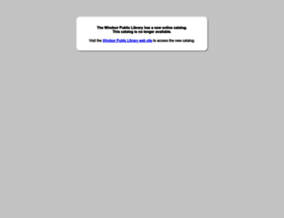 windsor.bibliocommons.com screenshot