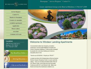 windsorlandingapartmentsllc.com screenshot