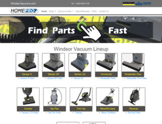 windsorvacuums.com screenshot