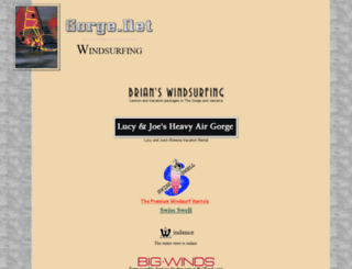 windsurf.gorge.net screenshot