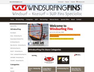 windsurfingfins.co.uk screenshot