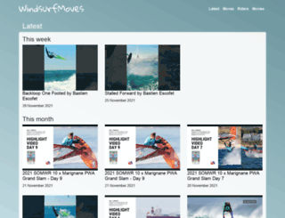 windsurfmoves.com screenshot