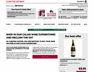 wine-calais.co.uk screenshot