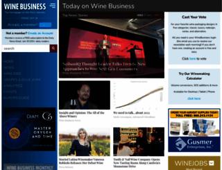 winebusiness.com screenshot