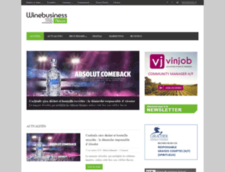 winebusinessnews.fr screenshot