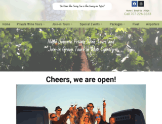winecountrylimos.com screenshot