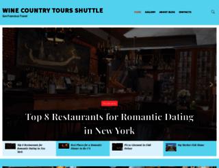 winecountrytourshuttle.com screenshot
