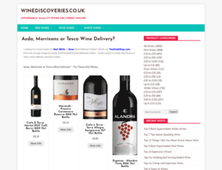 winediscoveries.co.uk screenshot