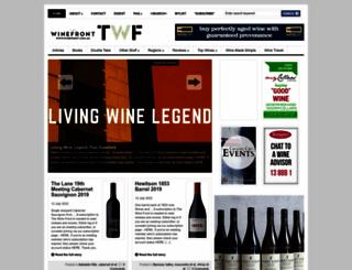winefront.com.au screenshot