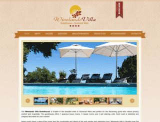 winelands-villa.co.za screenshot