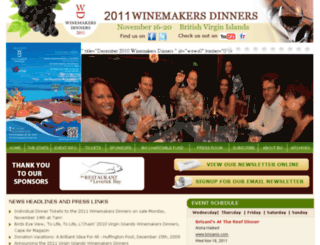 winemakersdinners.com screenshot