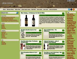 wineonline.freeblog.biz screenshot