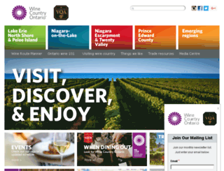 winesofontario.org screenshot