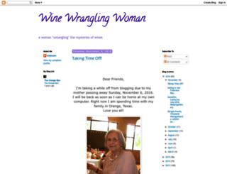 winewranglingwoman.blogspot.com screenshot