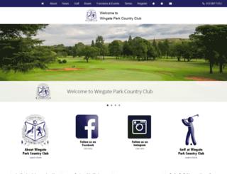 wingateparkcountryclub.co.za screenshot