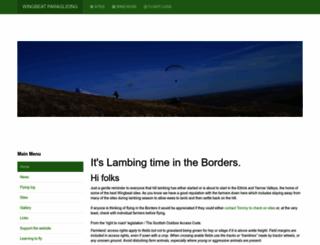 wingbeat-paragliding.co.uk screenshot