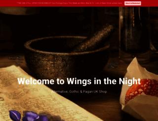 wings-in-the-night.co.uk screenshot