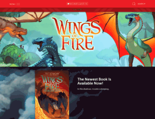 wingsoffire.scholastic.com screenshot