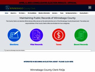 winnebagocountyclerk.com screenshot