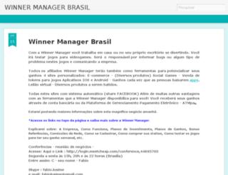 winnermanagergo.blogspot.com.br screenshot