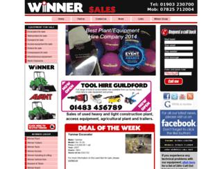 winnersales.co.uk screenshot