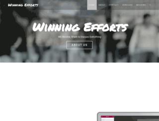 winningefforts.com screenshot