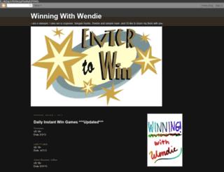 winningwithwendie.blogspot.com screenshot