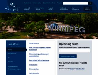 winnipeg.ca screenshot