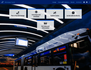 winnipegtransit.com screenshot