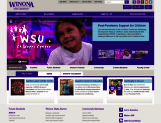winona.edu screenshot