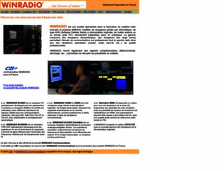 winradio.electronics.fr screenshot
