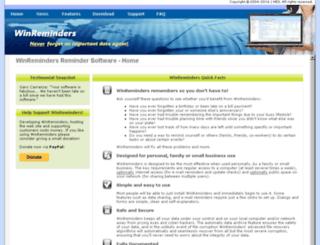 winreminders.com screenshot