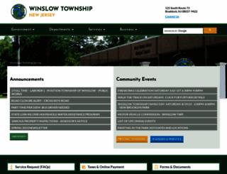 winslowtownship.com screenshot