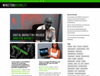 winstonbromley.com screenshot
